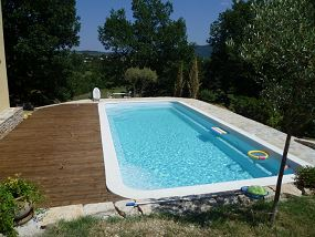 Photo piscine familiale, piscine pour famille - Photo piscine en polyester