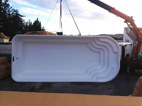 Photo piscine coque 8 par 3,50 - Photo piscine en polyester
